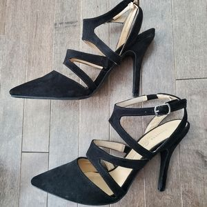 Chinese Laundry Strappy Suede Stilletos